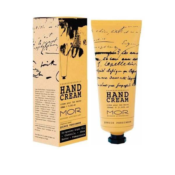 MOR corredpondence Hand Cream Quince Persimmon