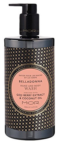 MOR hand and body wash belladonna