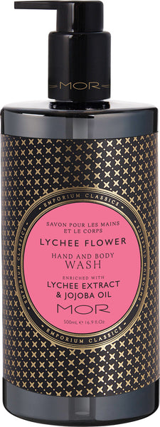 MOR hand and body wash lychee flower