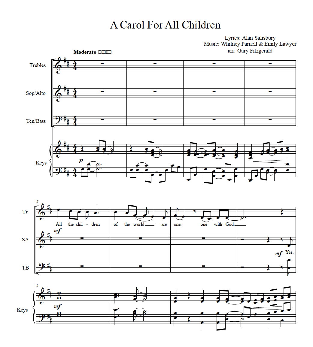 A Carol for All Children (Sheet Music) Digital Download