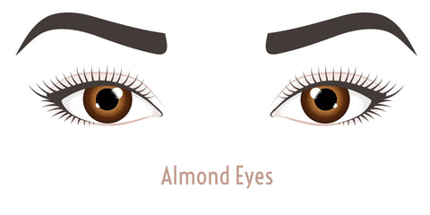 Almond eyes for lash styles.