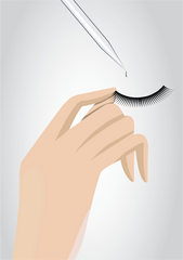 Apply Glue to Lashes - Mademoiselle Lash - How to Apply Fake Eyelashes