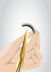 Trim Your Lashes with an Eyebrow Scissor - Mademoiselle Lash - How to trim eyelashes
