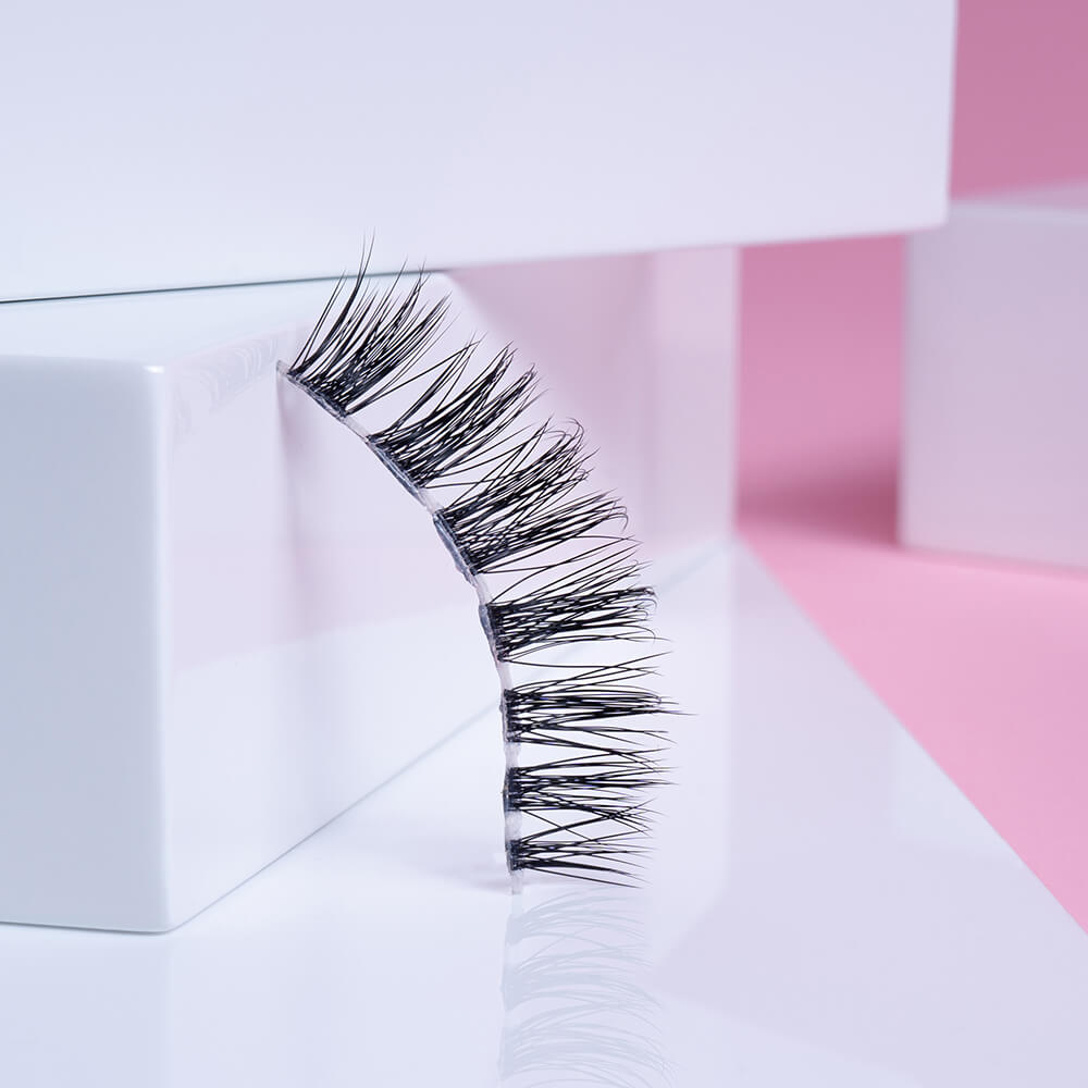 Our best lashes for small eyes! Lavonne combines a featherlight design with being the shortest lash style in our collection.