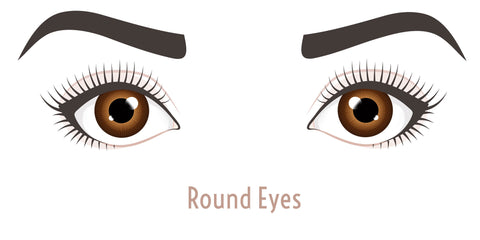 Round eyes for lash styles.
