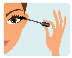 Woman Applying Mascara to Lashes - Mademoiselle Lash - How to Care for Lashes