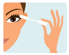 Use Cotton Swab to Remove Glue from Lashes - Mademoiselle Lash - How to clean false lashes
