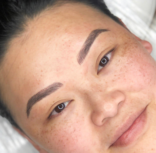 Result of eyebrow microblading.