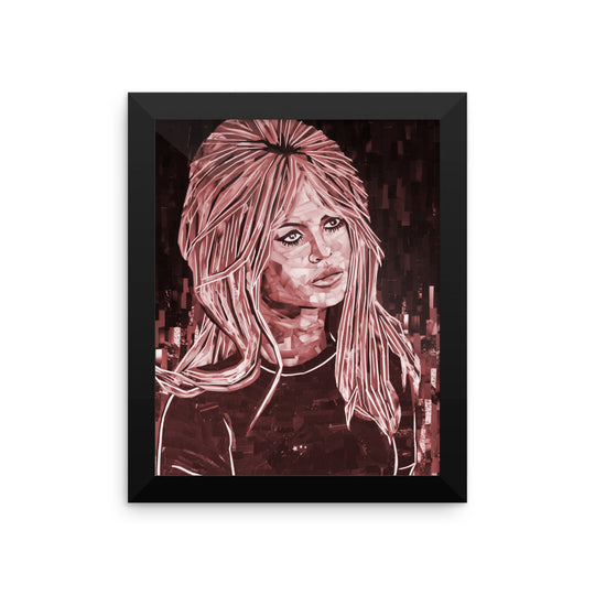 Bardot Framed  poster red