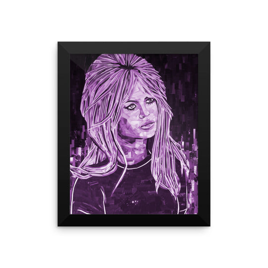 Bardot Framed  poster purple