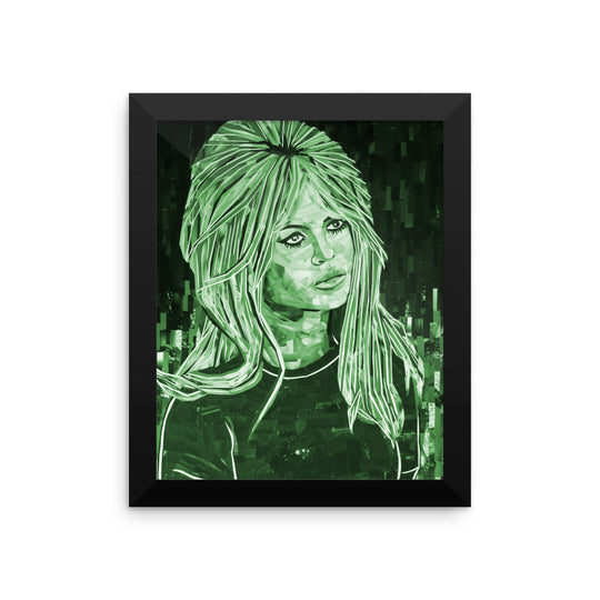 Bardot Framed  poster green
