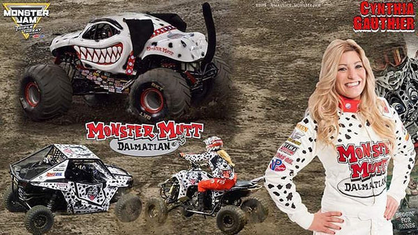 MTL Jerky ambassador and monster truck drive Cynthia Gauthier