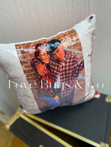 Sequin Pillow with Picture