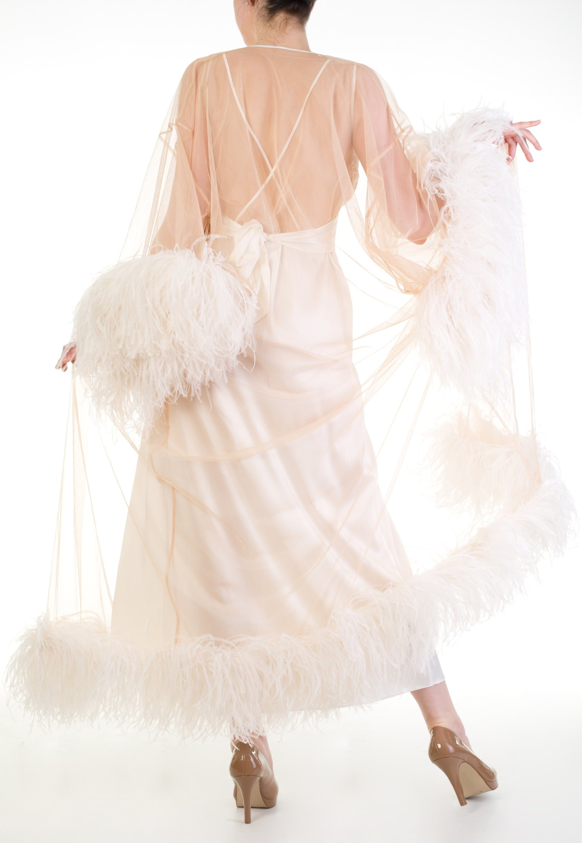 Serena Ostrich Feather Robe