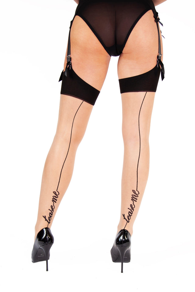 Playful Promises Tease Me Stockings XS-4XL