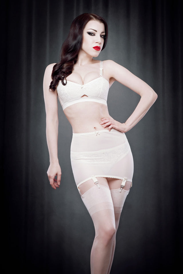 Kiss Me Deadly Retro Classics Ivory Roll On Girdle S-XL