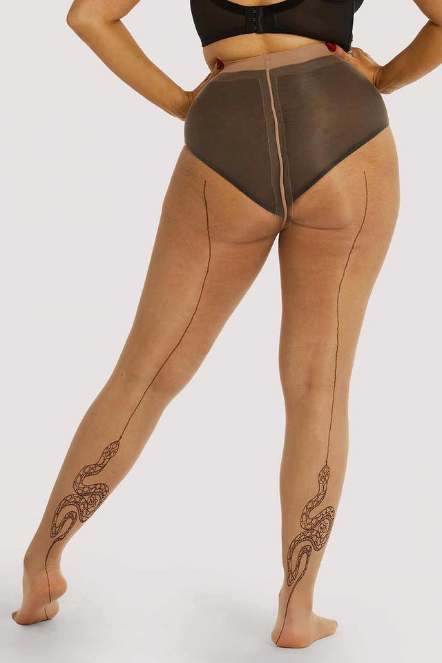Playful Promises Snake Tights XS-4XL