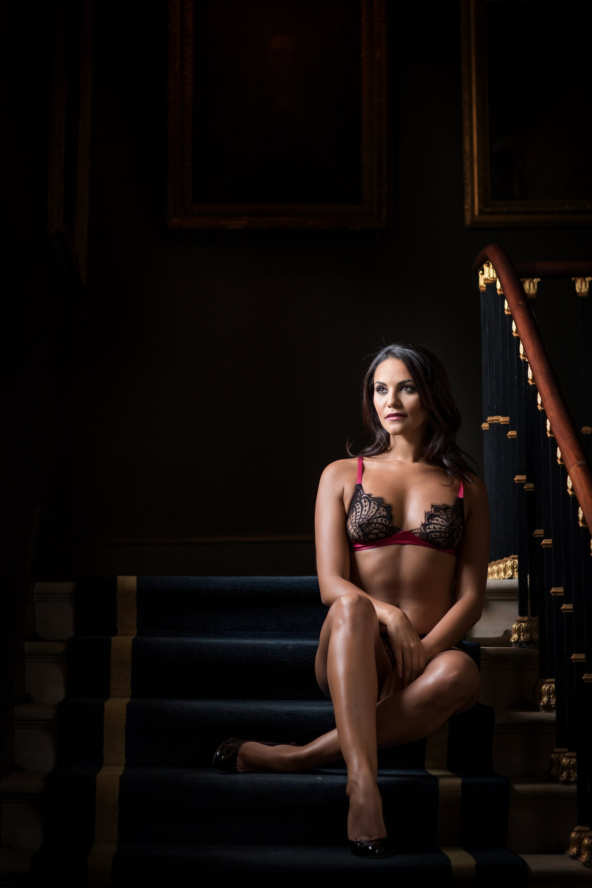 Emma Harris Renée Raspberry Silk Brief