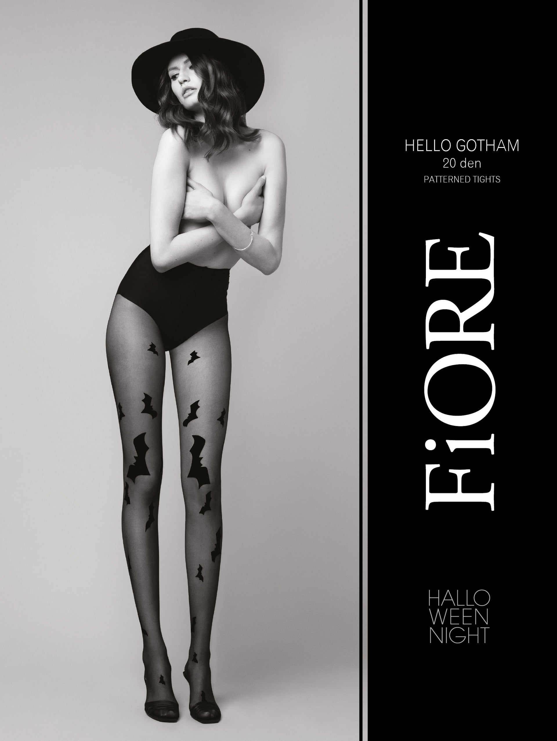 Fiore Hello Gotham Bat Tights