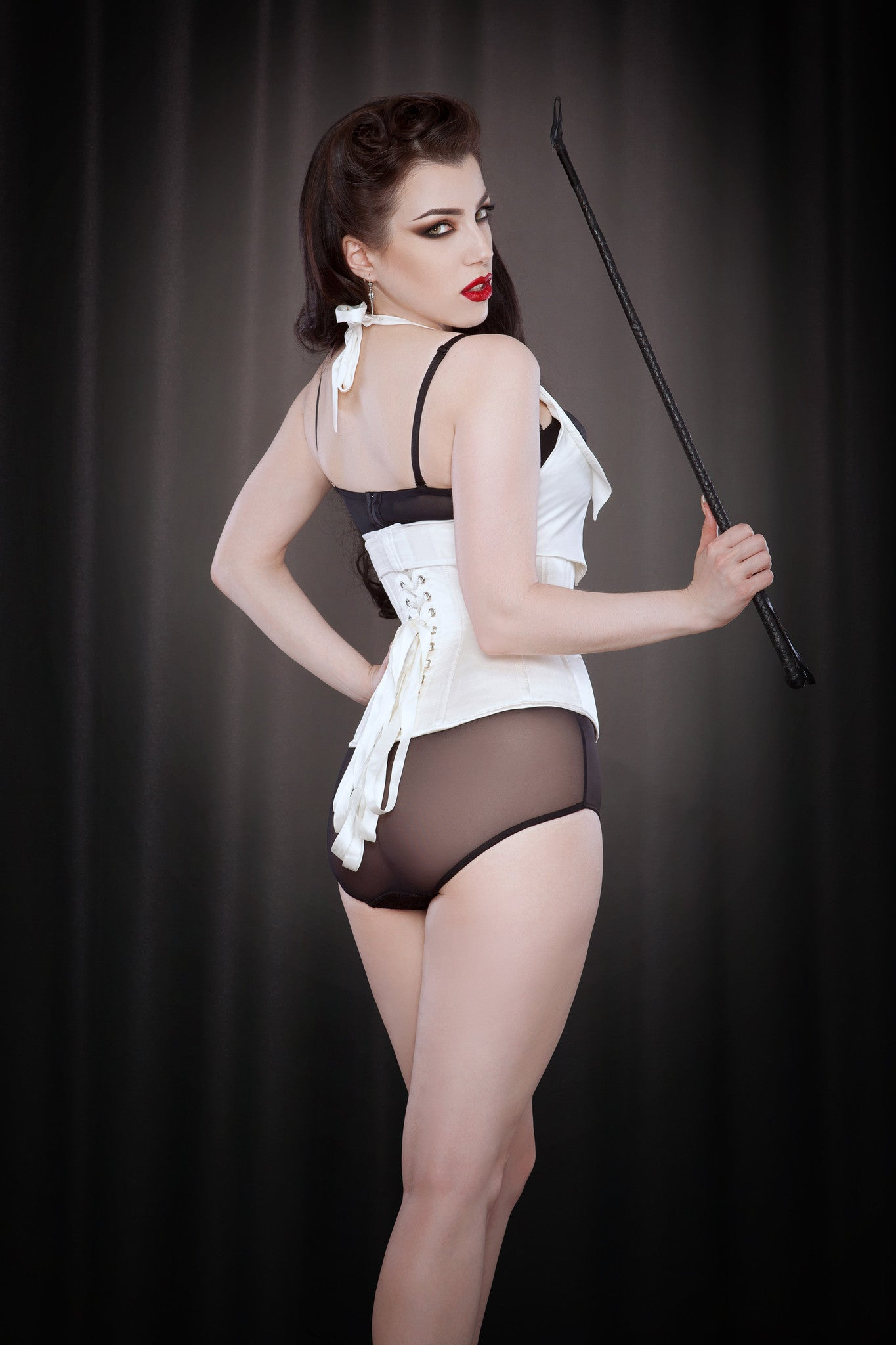 Made to Order Ivory Silk Tempest Corset