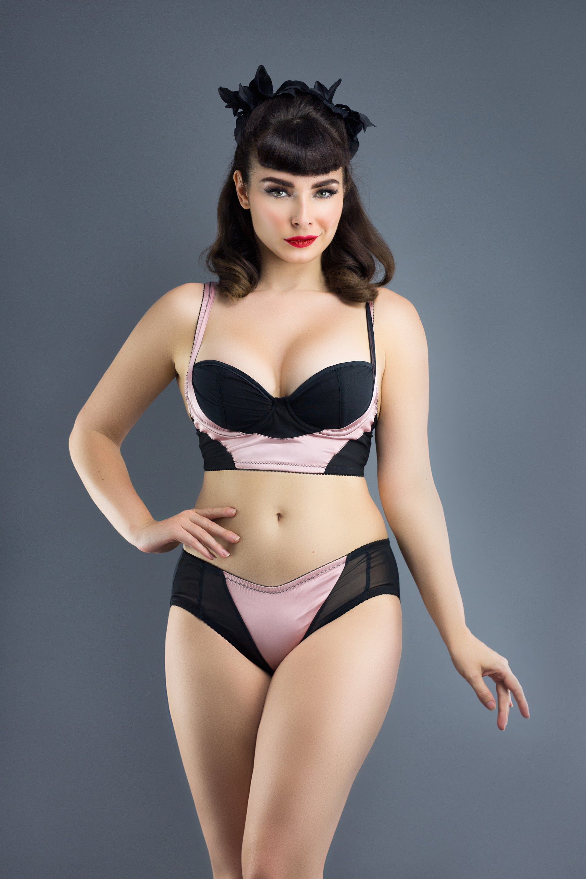 Audrey Silk Brief In Rose