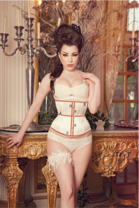 Made to Order Ivory Silk Tempest Underbust Corset