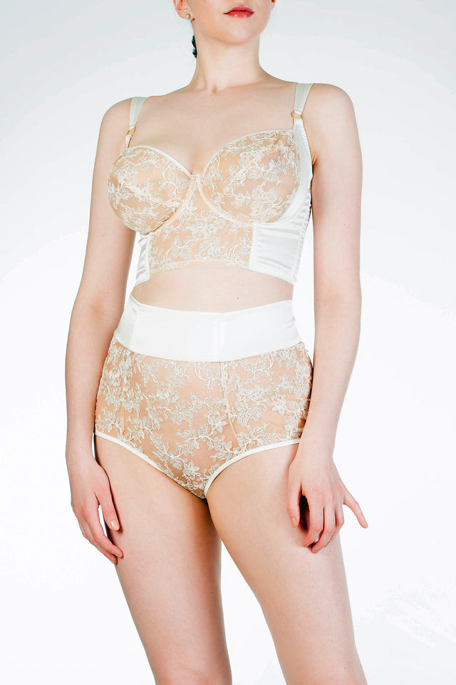 Made To Order Serena Ivory High Waist Brief