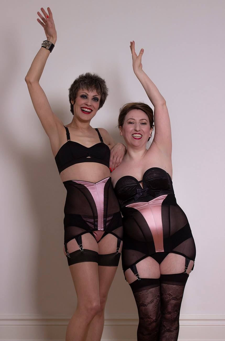 Audrey Silk Longline Girdle In Rose