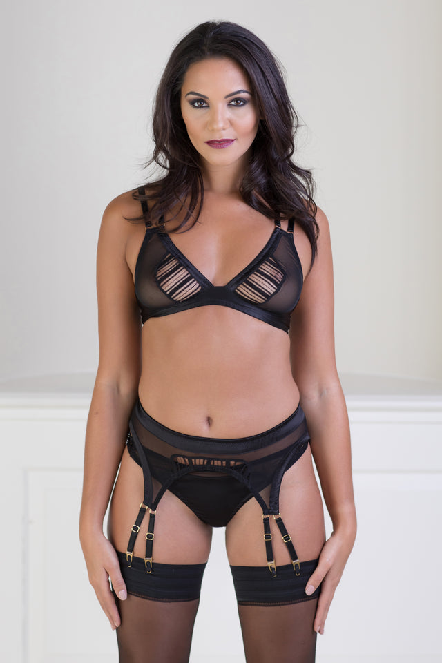 Theodora Silk Suspender Belt