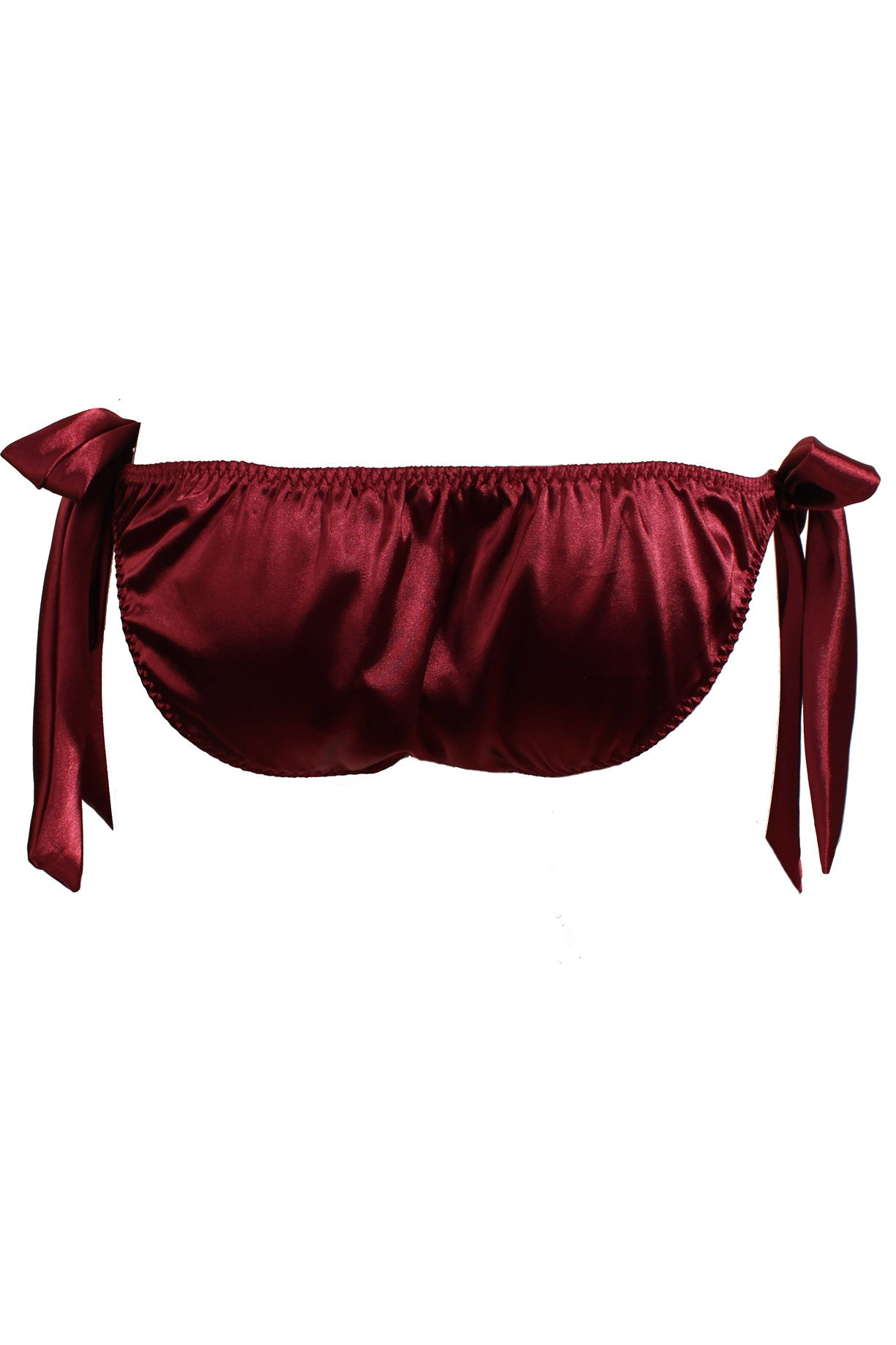 Burgundy Tie-Side Knicker