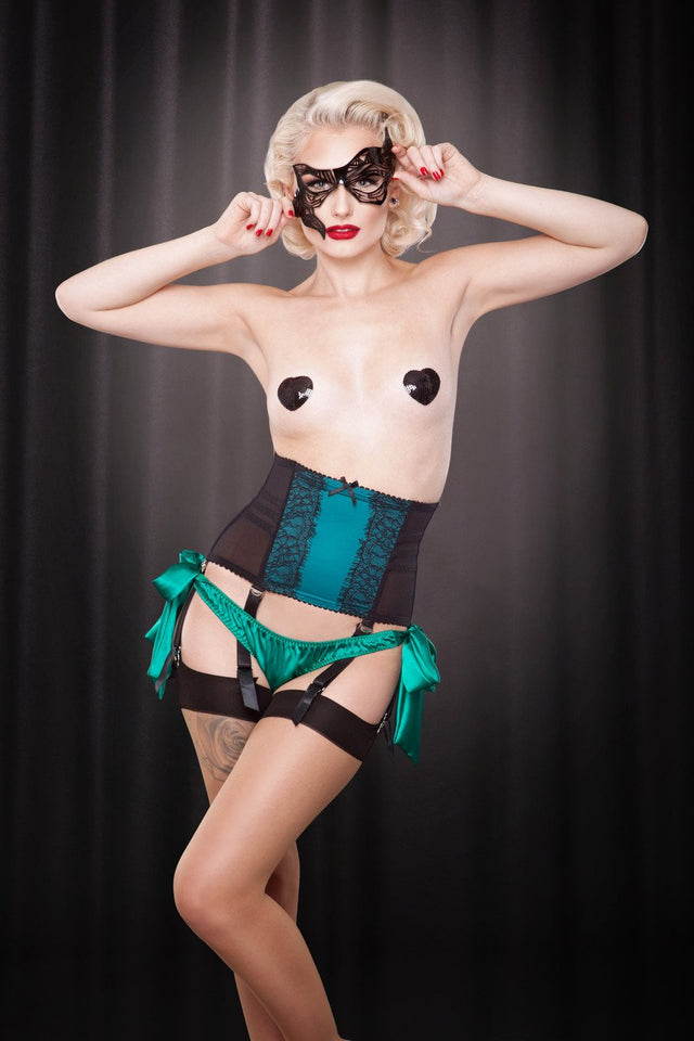 KMD Tie-Side Knickers Emerald Green