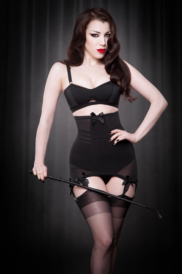 Vargas Longline Girdle in Black