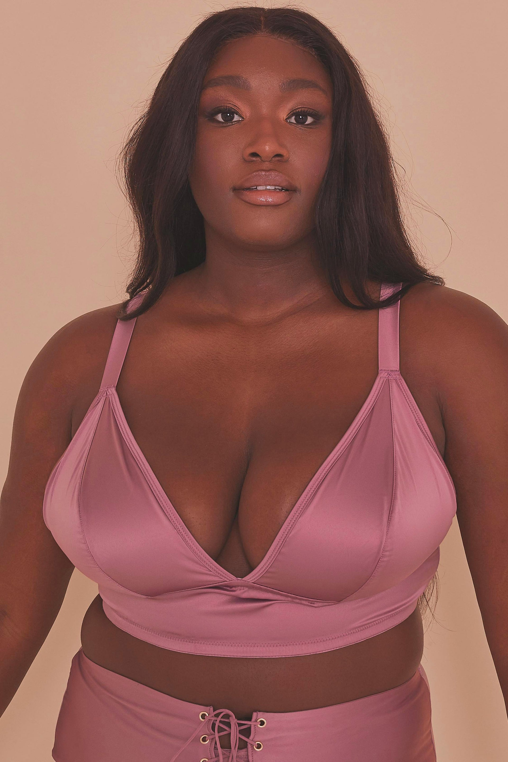 Gabi Fresh Eagan Blush Satin Bralette XL-7XL