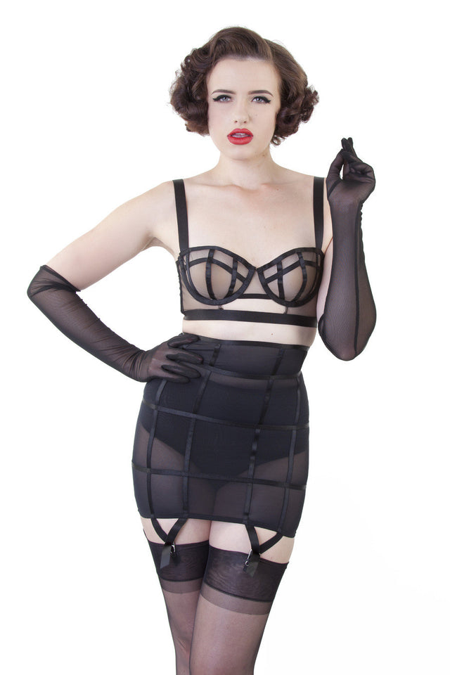Bettie Page Mesh Gloves