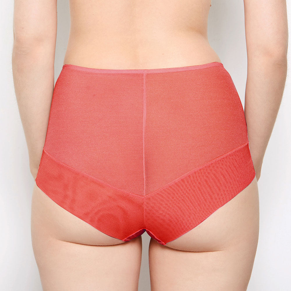 Katherine Hamilton Sophia Red Lace High Waisted Knickers