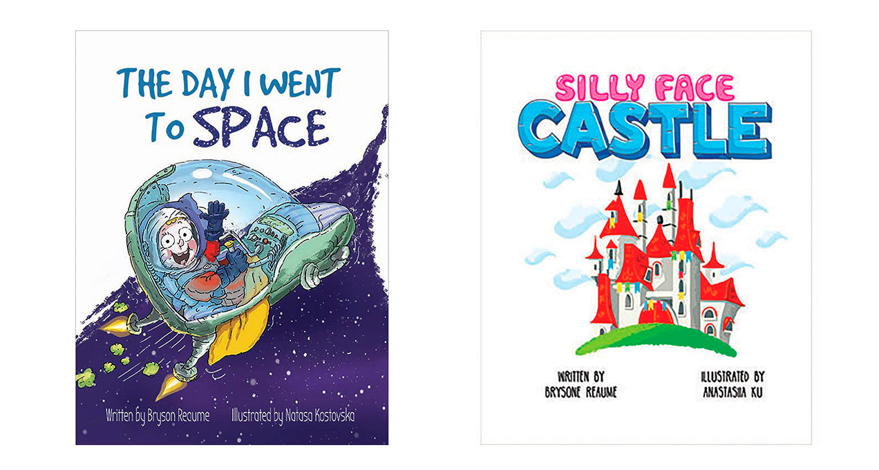 The Day I Went to Space and Silly Face Castle book covers