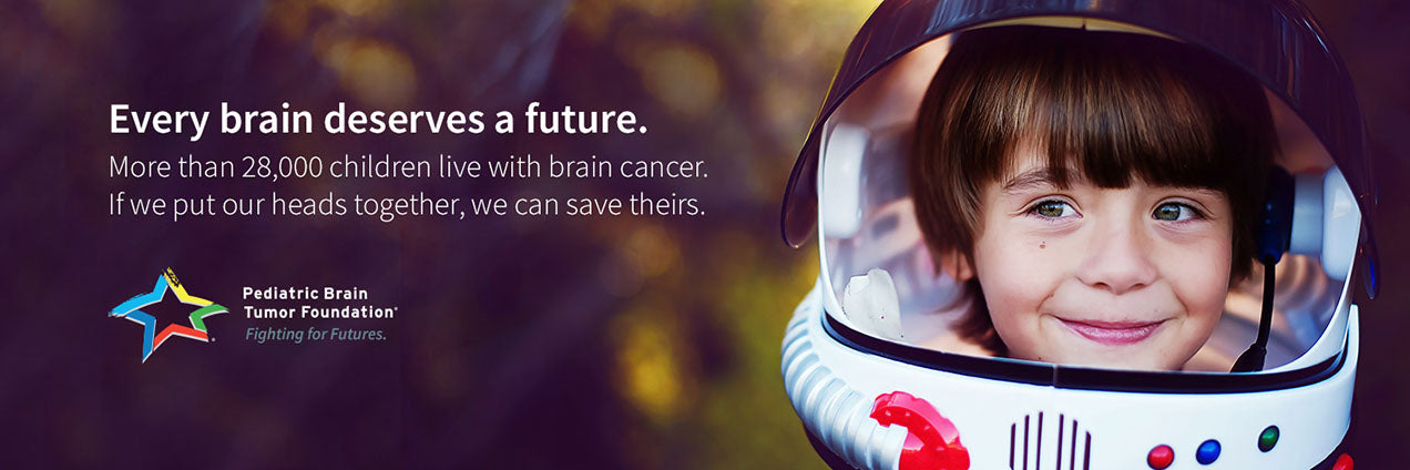 Pediatric brain Tumor Foundation image kid is space suit