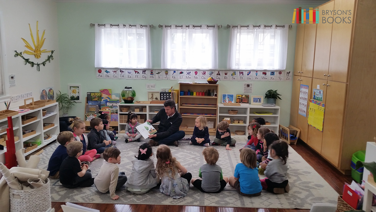 Bryson Reaume reading A Simple Rock at Valley Village Montessori