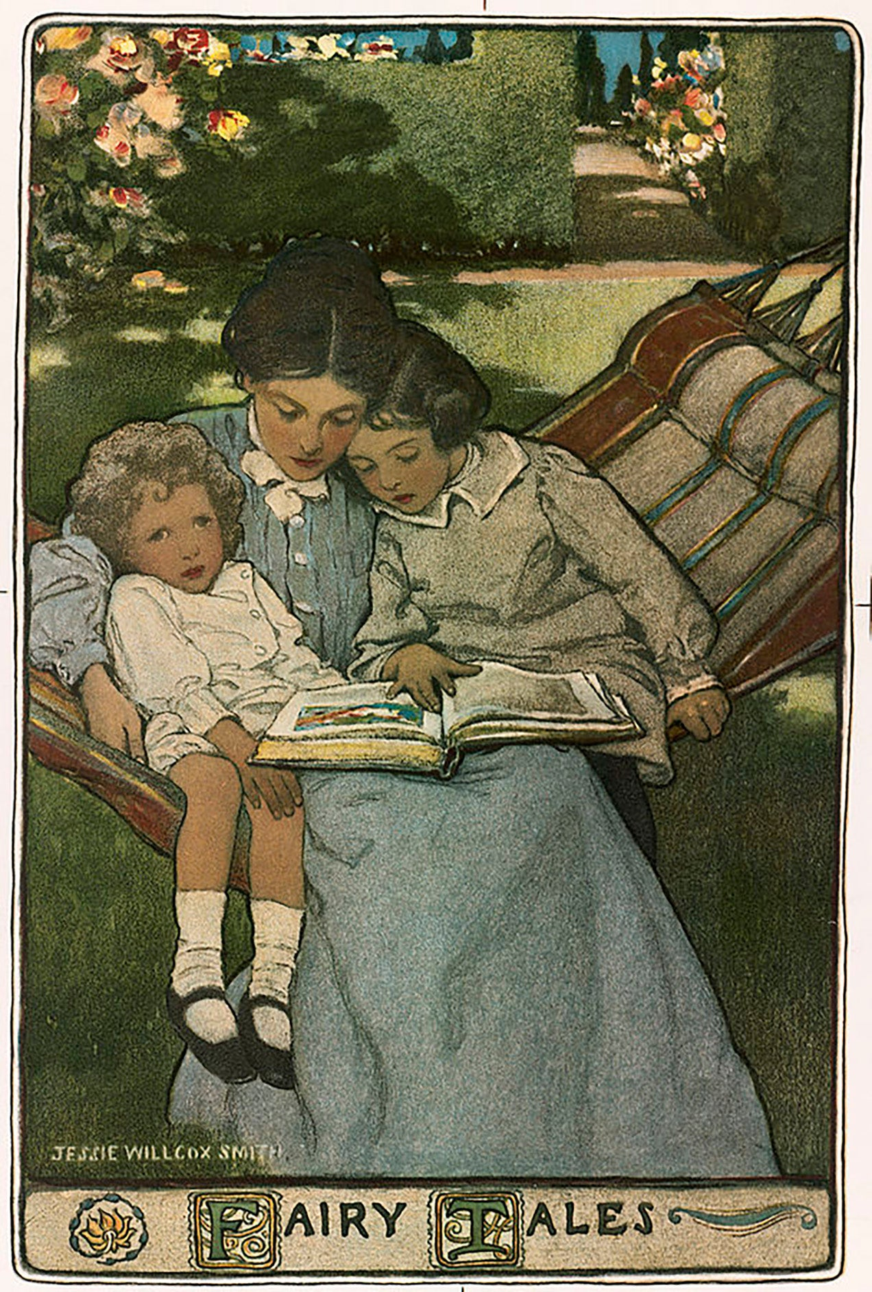 "<img alt=""jess wilcox smith painting mother reading to children"">"