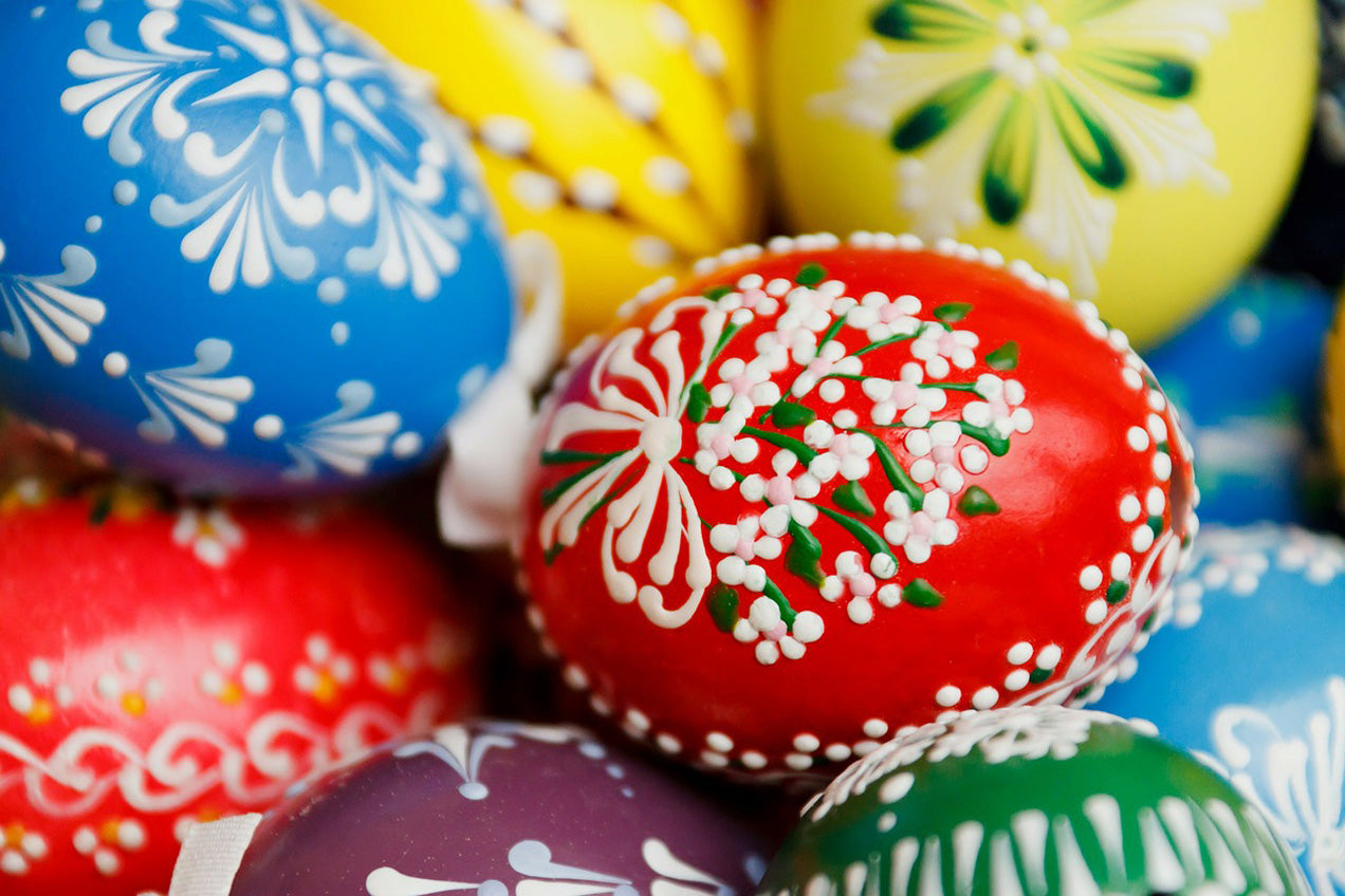 spring-easter-painted-eggs