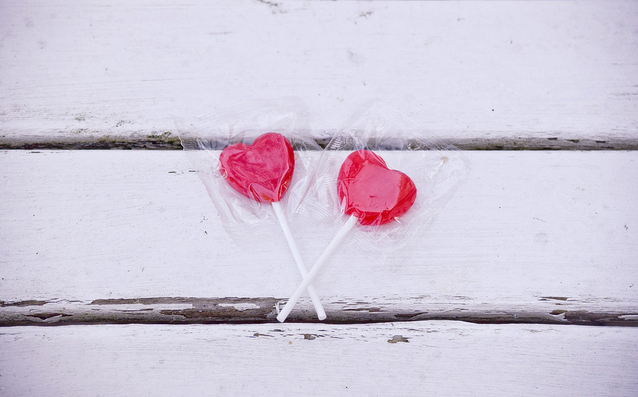 red heart candy valentines day