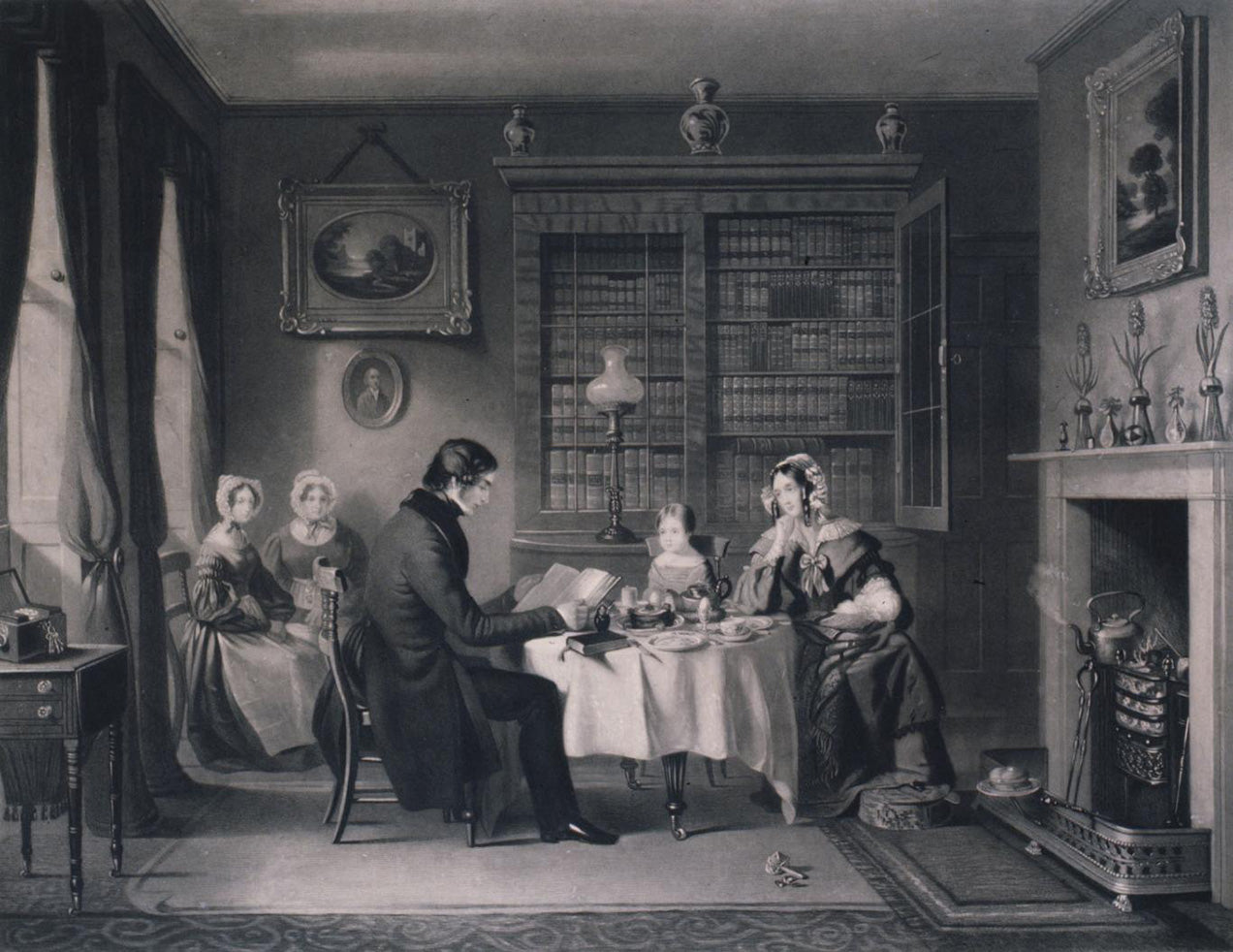 "<img alt=""victorian family reading"">"