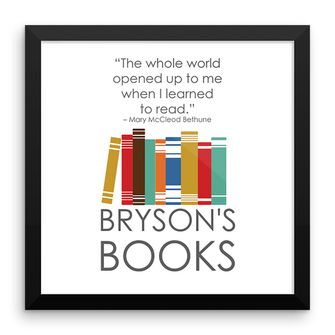 Bryson's Books Framed Print