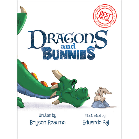 Best seller children's book Dragons and Bunnies by Bryson Reaume