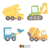 Construction Truck Nursery Print -Blue Bulldozer