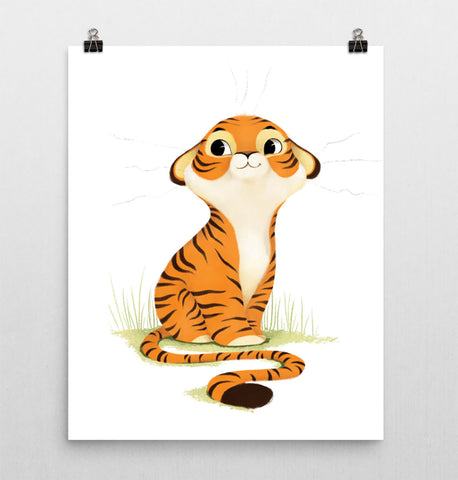 Animal Nursery Print – Tiger Cub