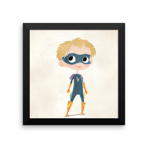Superhero Framed Nursery Print – Bird Boy