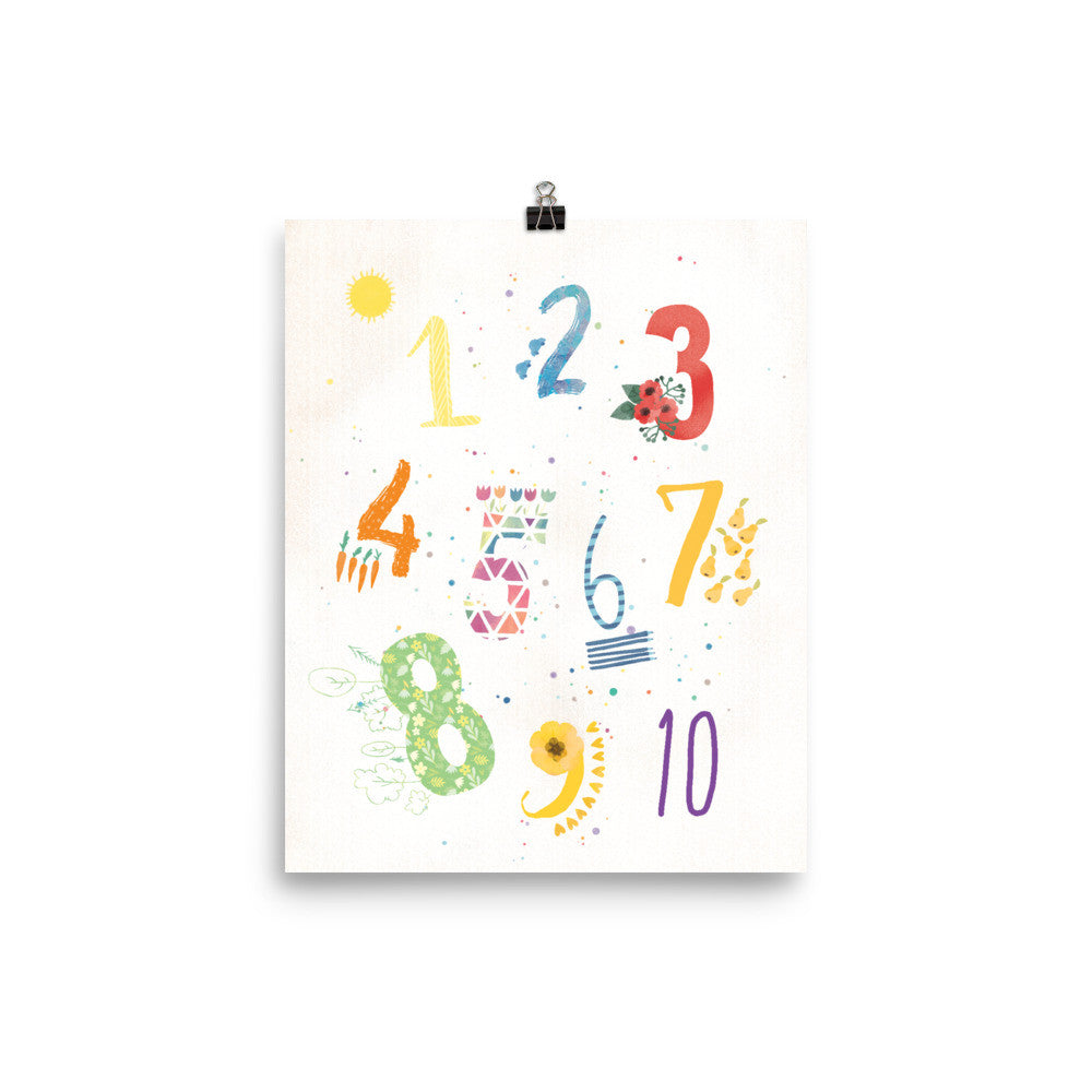 1, 2, 3 Counting Numbers Nursery Print