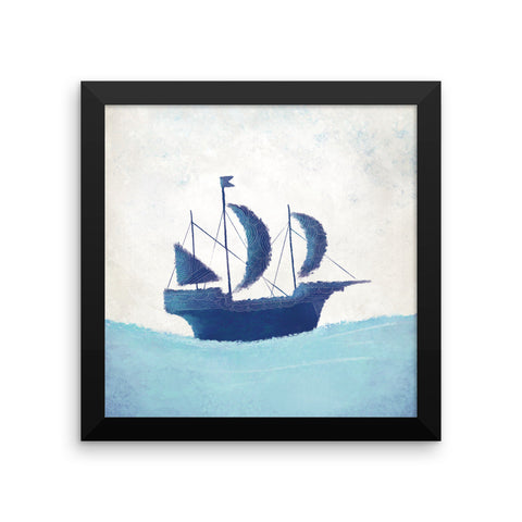 Nautical Framed Nursery Print - The Ship