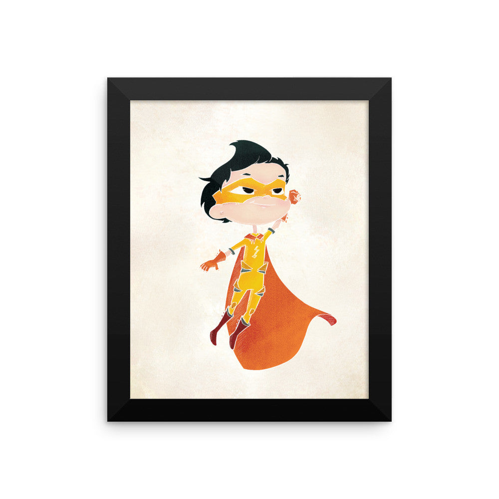 Superhero Framed Nursery Print – Lightning Boy